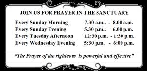 PRAYER IN SANCTUARY